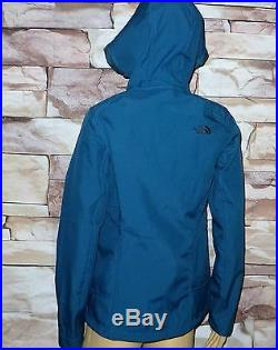 $179 Womens The North Face SILKY JACKET COAT HOODIE Windwall SoftShell BLUE MED