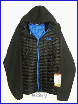 $180 Mens The North Face ThermoBall Hybrid Insulated Hoodie Black Blue XXL