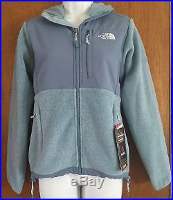 $199 Women's The North Face Denali Hoodie Jacket Cool Blue Heather Polartec Xs
