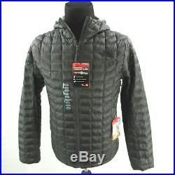 $220 NEW The North Face ThermoBall Hoodie Insulated Jacket Mens Large Black NWT