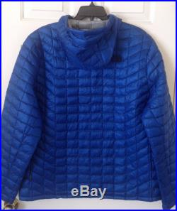 $220 NWT Mens The North Face Thermoball Hoodie Down Jacket Monster Blue L XL 2XL