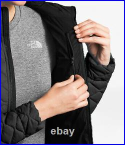 $220 NWT THE NORTH FACE Women's Thermoball Hoodie Puffer Jacket Black Large L