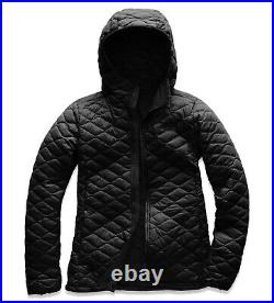 $220 NWT THE NORTH FACE Women's Thermoball Hoodie Puffer Jacket Black Medium M