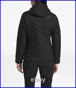 $220 NWT THE NORTH FACE Women's Thermoball Hoodie Puffer Jacket Black Sz XL