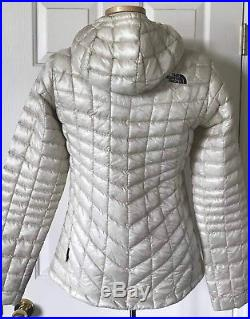 $220 NWT Womens The North Face Thermoball Hoodie Jacket Vintage White S M L XL