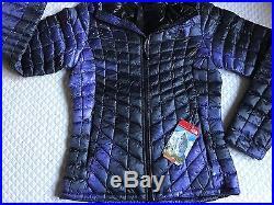 4ebf3b3eb $220 North Face Women's ThermoBall Hoodie S Jacket Garnet Purple ...