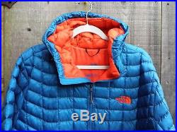 $220 The north face mens thermoball insulated hooded jacket hoodie snorkel blue