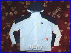 $249 The North Face Men White Cornice-Ridge Jacket Hoodie Size XL Authentic Coat