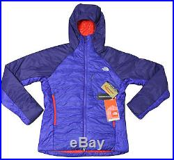 $299 New North Face Womens Zephyrus Pro Hoodie Jacket Blue Large Summit Series