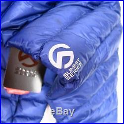 $350 Women's North Face Summit L3 Down Hoodie Medium Blue NEW NFOA37P7