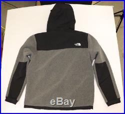 Men's 2018 DENALI 2 North Face New Fleece Hoodie Jacket, Light Gray/ TNF Black