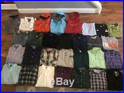 Men's Clothing Lot 29 Shirts Hoodie Polo Nike Under Armour The North Face Medium