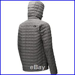 Men's North Face Grey Lightweight PrimaLoft Thermoball Hoodie Jacket New $220