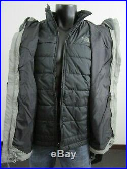 Mens L-XXL TNF The North Face Beswick Triclimate Hooded Waterproof Jacket Grey