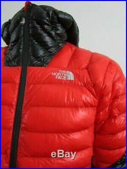 Mens M-L TNF The North Face L3 Down Hoodie Insulated Climbing Jacket Black Red