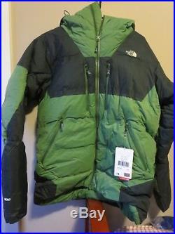 Mens New North Face Summit Series L6 Jacket Hoody Sz Small Color Vista Green