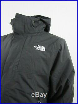 Mens TNF The North Face Lonepeak Tri 3 in 1 Hooded Waterproof Jacket Black White