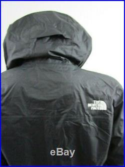 Mens TNF The North Face Venture Dryvent Waterproof Hooded Rain Jacket Black Whit