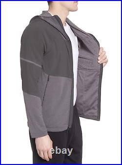 Mens The North Face Jacket Progressor Power Grid Hoodie Full Zip Coat Grey L