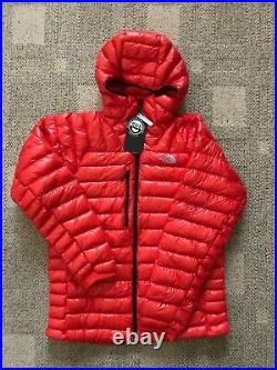 Mens The North Face L3 Proprius Down Hoodie Jacket Coat Fiery Red Sz XL Slim Fit