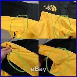 Mens Vintage Rare THE NORTH FACE STEEP TECH Ski Jacket Coat YellowithBlack Medium