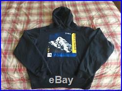 Mens Vtg The North Face Karakoram Range Asia Mountains Hoodie Sweatshirt Size M