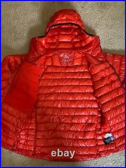 NEW The North Face Mens SUMMIT L3 PROPRIUS DOWN HOODIE Jacket Red Medium