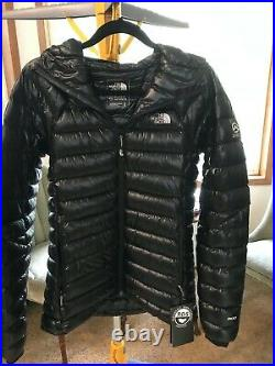 NEW Women's North Face Summit Series Medium L3 800 Black Down Hoodie Jacket Coat