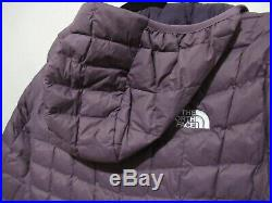 NEW! Women's The North Face Thermoball Hoodie Jacket, Size Medium Black Plum