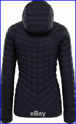 NORTHFACE Womens Thermoball Hoodie Jacket L/Large Black Matte AUTHENTIC