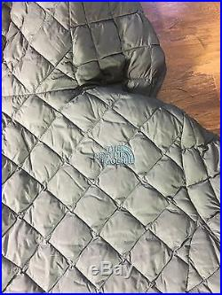 NWT $249 The North Face Womens Thermoball Fur Hoodie SMALL TNF Spruce Green NEW
