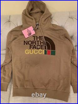 NWT Gucci X The North Face Brown Hoodie Small (Medium)