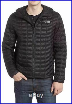 NWT Men's Black The North Face ThermoBall insulated Jacket Hoodie size Medium