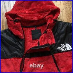 NWT Men's The North Face TNF Black Series KK Gear Deep Pile Fleece Hoodie Sz L