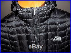 NWT Men's The North Face Thermoball Hoodie Jacket Primaloft LARGE $220 BLACK