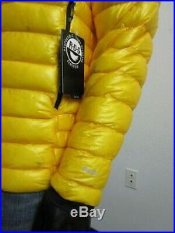 NWT Mens M TNF The North Face L3 Down Hoodie Insulated Climbing Jacket Yellow