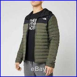 NWT Mens TNF North Face Stretch Down Hoodie Jacket 700 fill $134.99 Size Medium