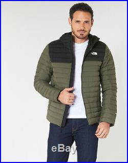 NWT Mens TNF North Face Stretch Down Hoodie Jacket 700 fill $249.99 Size Large