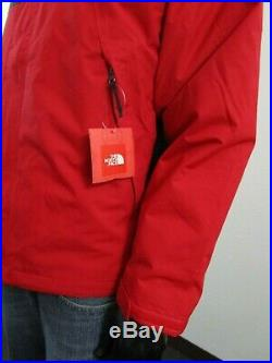 NWT Mens TNF The North Face Lonepeak Tri 3 in 1 Hooded Waterproof Jacket Red