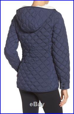 NWT THE NORTH FACE ThermoBall Faux Fur Hoodie Quilted Jacket Size L Cosmic Blue