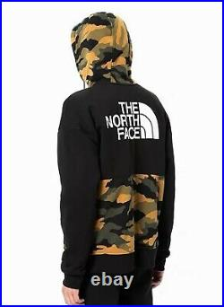 NWT The North Face Graphic Collection Full Zip Hoodie Jacket Sz L Black Camo