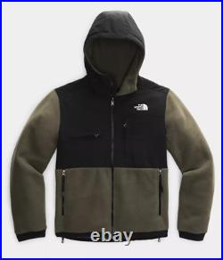 NWT The North Face Men's Denali2 Heavy Fleece Hoodie Jacket Taupe Green M