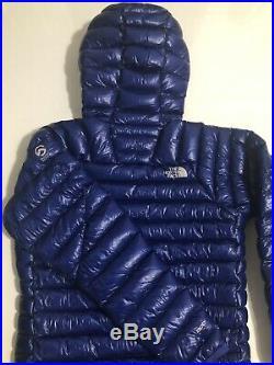 NWT The North Face Summit Series L3 800 Down Hoodie Mens Jacket Blue Slim Fit