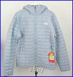 NWT The North Face ThermoBall Zip Hoodie Jacket, Mid Grey, Small, MSRP $220
