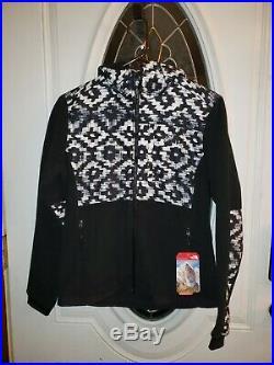 NWT The North Face Women Denali Hoodie Jacket D-Kat Print/Black Small MSRP $199