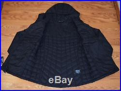 NWT Womens NORTH FACE Black Puffer Thermoball Hoodie Jacket Coat Size S Small
