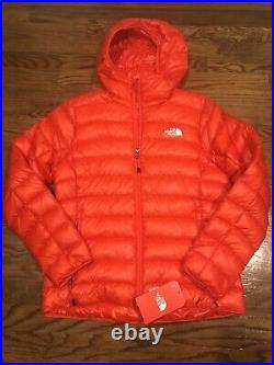 NWT Womens The North Face 800 Down Hoodie Medium Fiery Red
