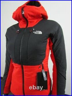 NWT Womens The North Face Summit L3 Ventrix 2 Hoodie Insulated Jacket Red Black