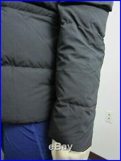 NWT Womens The North Face UX (Nuptse) 550-Down Insulated Hooded Jacket Black