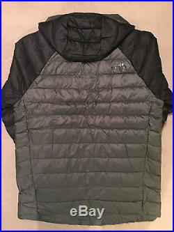 New Men's The North Face Trevail Hoodie 700 Down Fill, Fuseboxy Grey, Medium